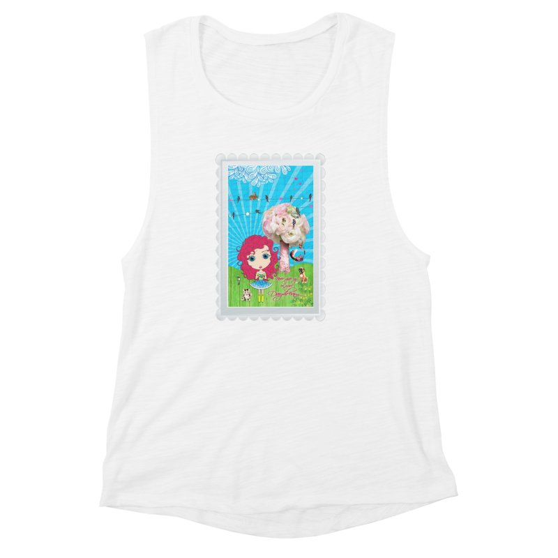 Daydreams Really Do Come True - Dark Haired Version Women's Muscle Tank by LittleMissTyne's Artist Shop