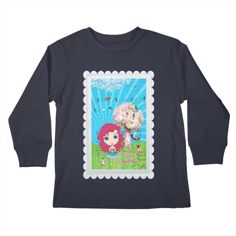Daydreams Really Do Come True - Dark Haired Version Kids Longsleeve T-Shirt by LittleMissTyne's Artist Shop