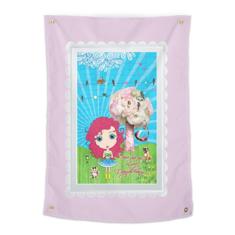 Daydreams Really Do Come True - Dark Haired Version Home Tapestry by LittleMissTyne's Artist Shop
