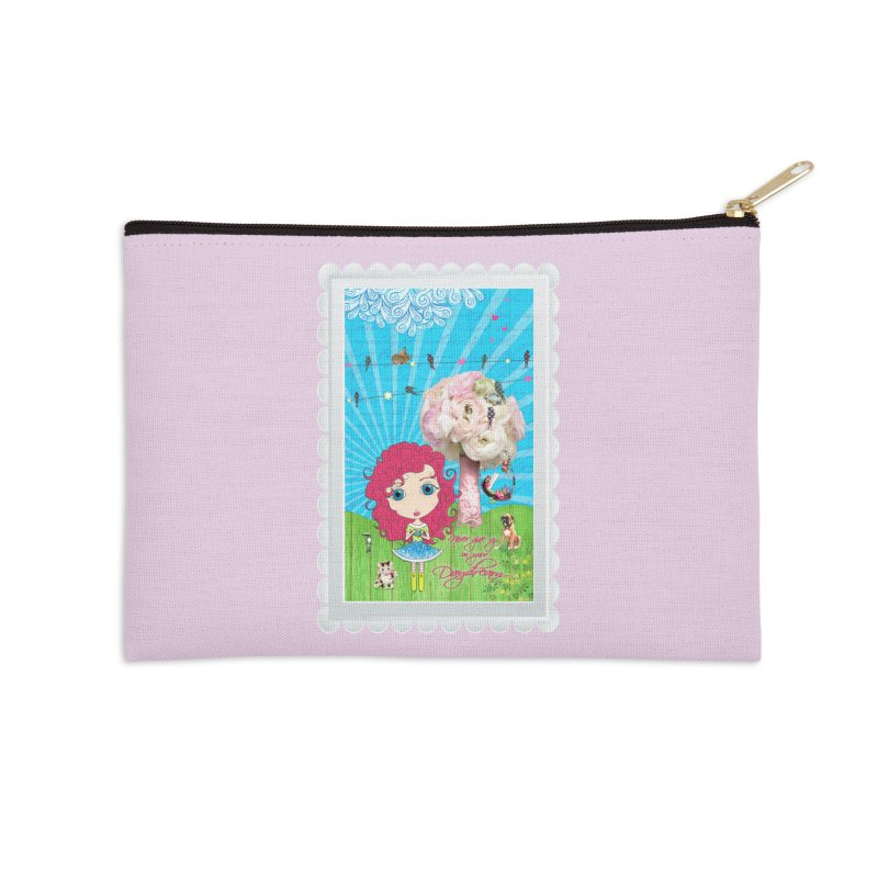 Daydreams Really Do Come True - Dark Haired Version Accessories Zip Pouch by Little Miss Tyne's Artist Shop