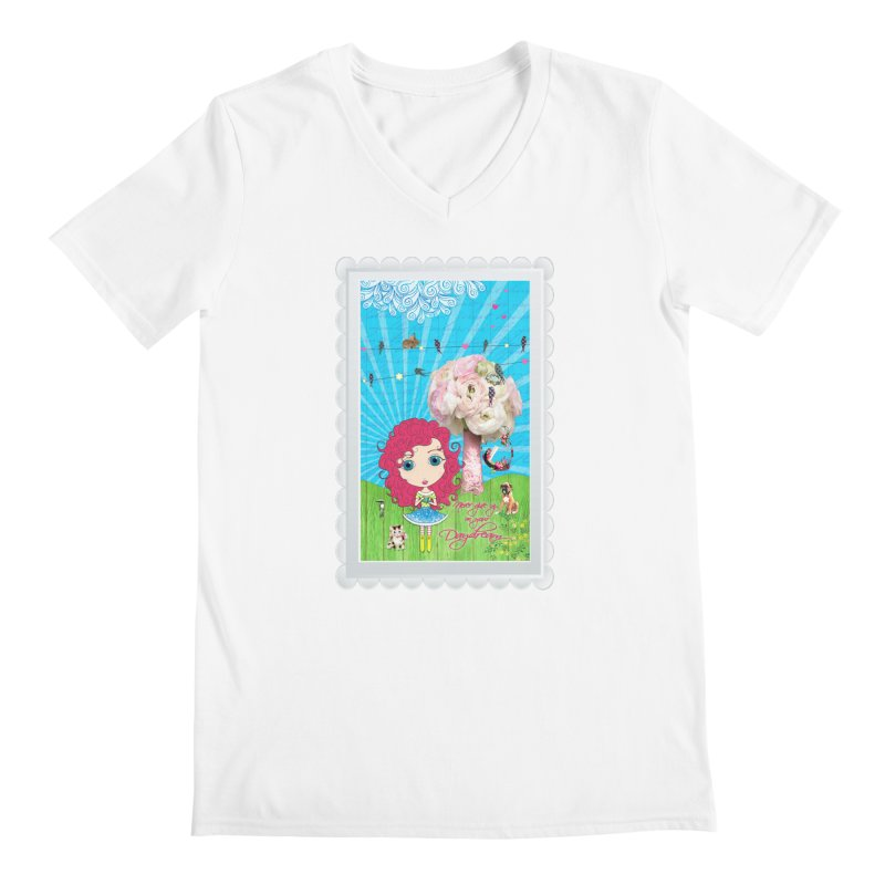 Daydreams Really Do Come True Men's V-Neck by Little Miss Tyne's Artist Shop