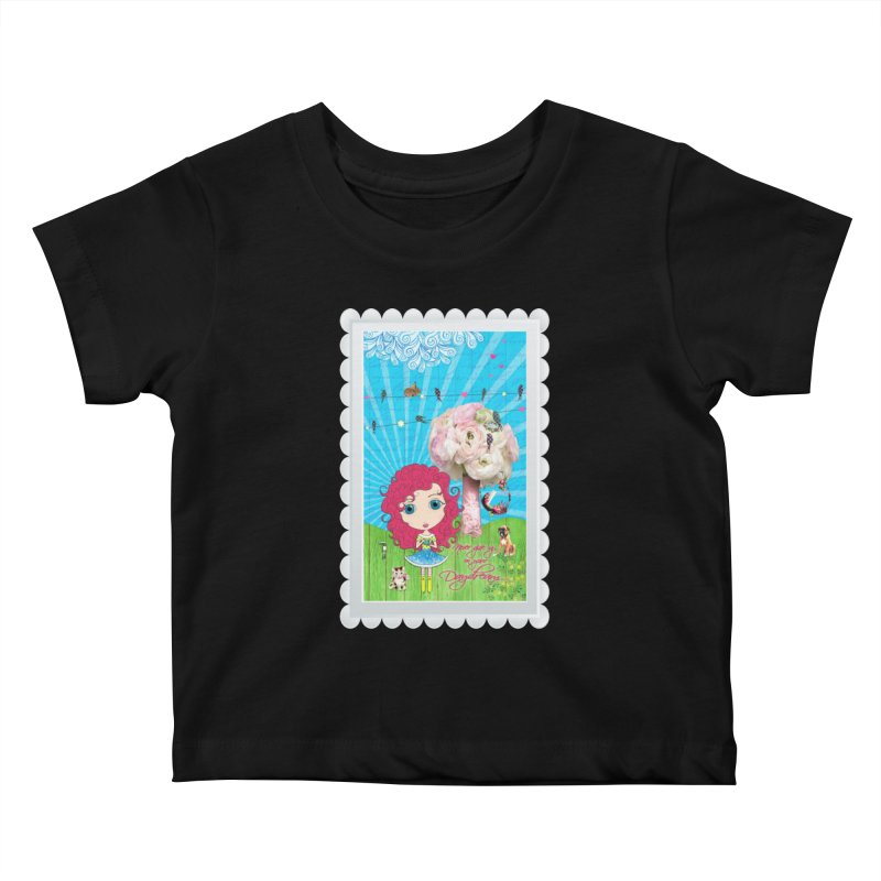 Daydreams Really Do Come True Kids Baby T-Shirt by Little Miss Tyne's Artist Shop