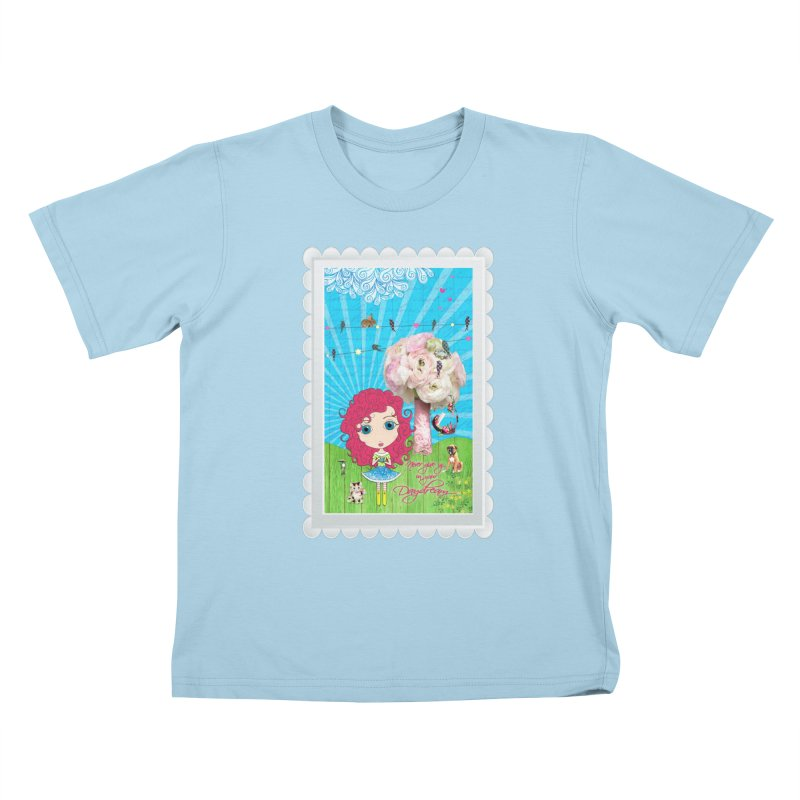 Daydreams Really Do Come True Kids T-Shirt by Little Miss Tyne's Artist Shop