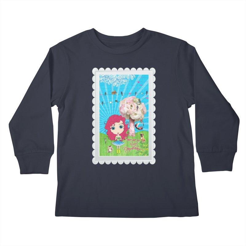 Daydreams Really Do Come True Kids Longsleeve T-Shirt by Little Miss Tyne's Artist Shop