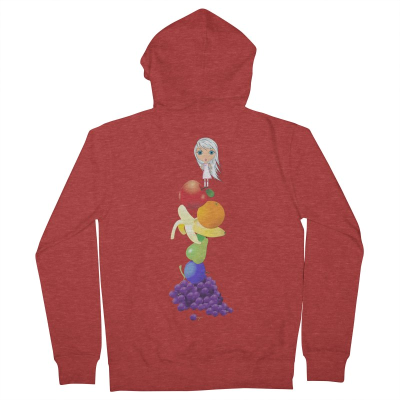 The Yummiest of Rainbows Women's French Terry Zip-Up Hoody by LittleMissTyne's Artist Shop