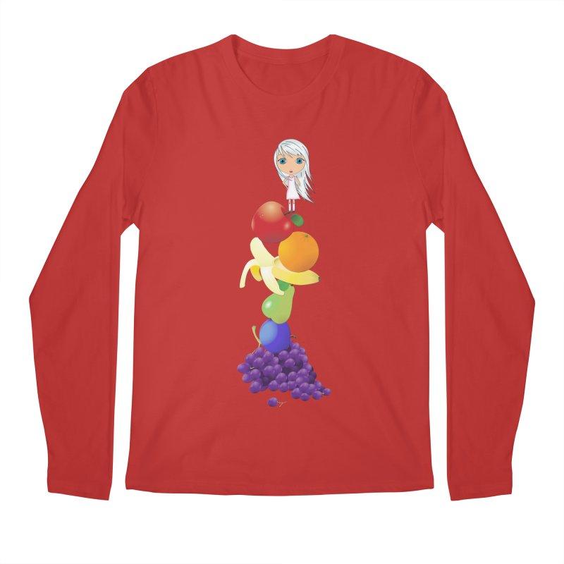 The Yummiest of Rainbows Men's Regular Longsleeve T-Shirt by LittleMissTyne's Artist Shop
