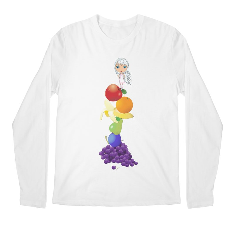 The Yummiest of Rainbows Men's Regular Longsleeve T-Shirt by LittleMissTyne's Artist Shop