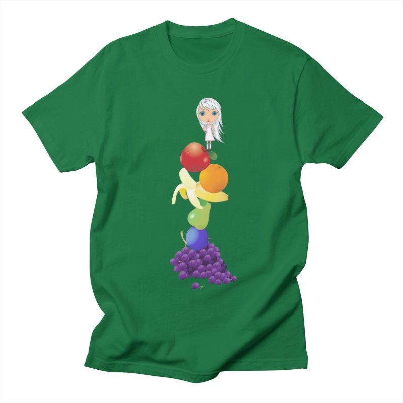 The Yummiest of Rainbows Men's Regular T-Shirt by LittleMissTyne's Artist Shop