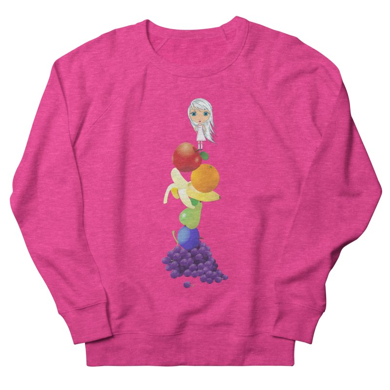 The Yummiest of Rainbows Women's French Terry Sweatshirt by LittleMissTyne's Artist Shop