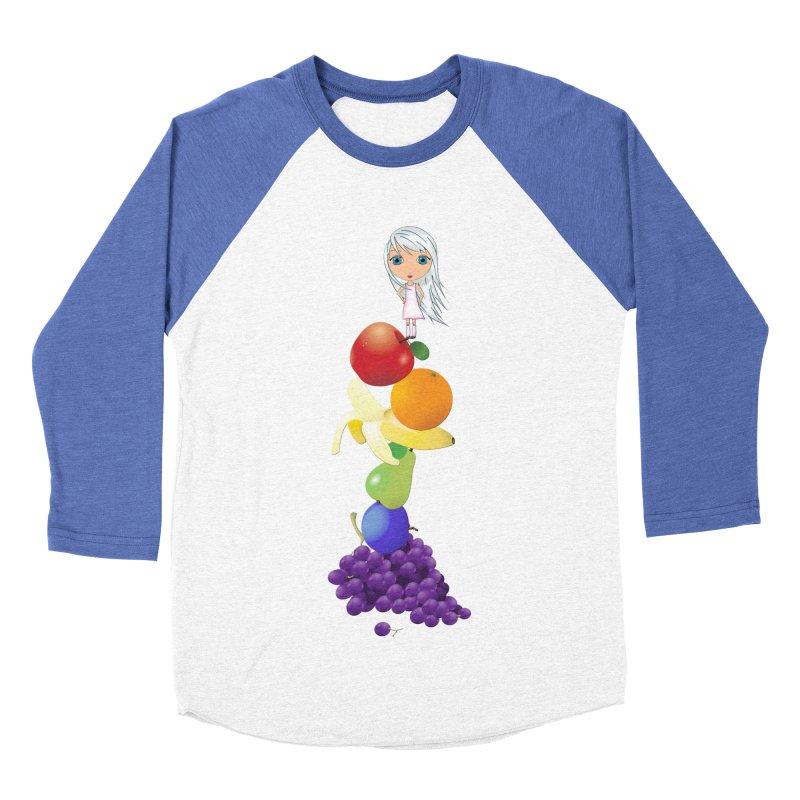 The Yummiest of Rainbows Women's Baseball Triblend Longsleeve T-Shirt by LittleMissTyne's Artist Shop