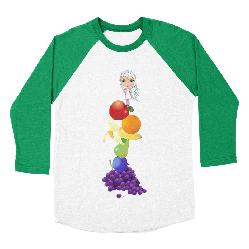 The Yummiest of Rainbows Women's Baseball Triblend Longsleeve T-Shirt by LittleMissTyne's Artist Shop