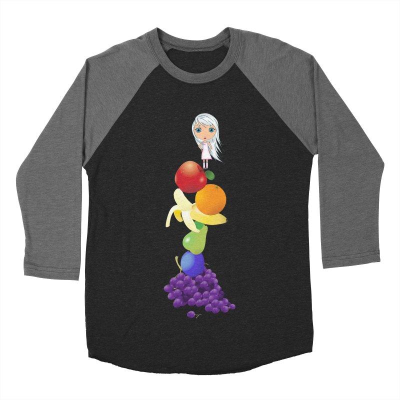 The Yummiest of Rainbows Men's Baseball Triblend Longsleeve T-Shirt by LittleMissTyne's Artist Shop