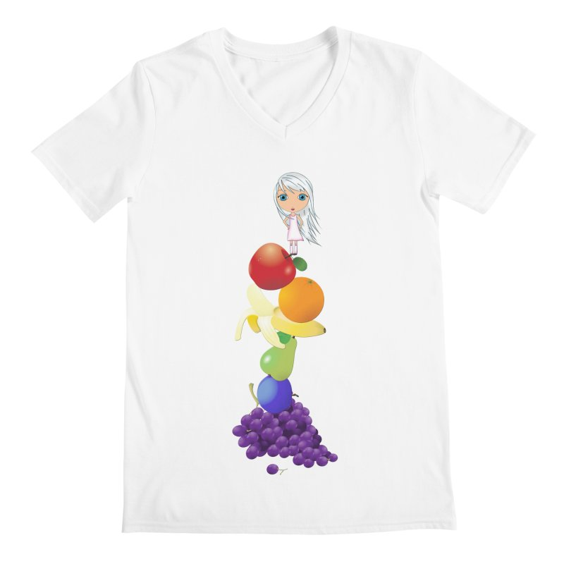 The Yummiest of Rainbows Men's V-Neck by LittleMissTyne's Artist Shop