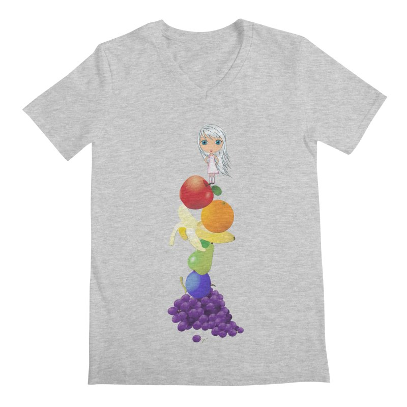 The Yummiest of Rainbows Men's Regular V-Neck by LittleMissTyne's Artist Shop