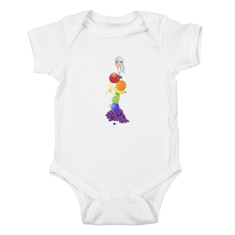 The Yummiest of Rainbows Kids Baby Bodysuit by Little Miss Tyne's Artist Shop