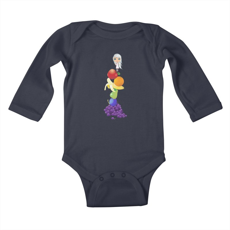 The Yummiest of Rainbows Kids Baby Longsleeve Bodysuit by Little Miss Tyne's Artist Shop