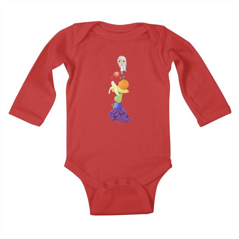 The Yummiest of Rainbows Kids Baby Longsleeve Bodysuit by LittleMissTyne's Artist Shop