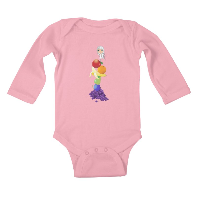 The Yummiest of Rainbows Kids Baby Longsleeve Bodysuit by LittleMissTyne's Artist Shop