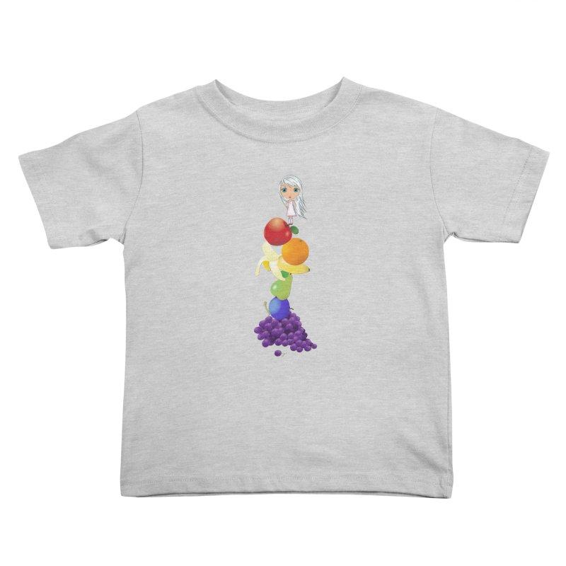 The Yummiest of Rainbows Kids Toddler T-Shirt by LittleMissTyne's Artist Shop