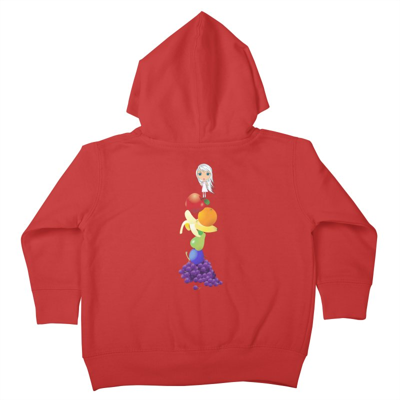 The Yummiest of Rainbows Kids Toddler Zip-Up Hoody by Little Miss Tyne's Artist Shop