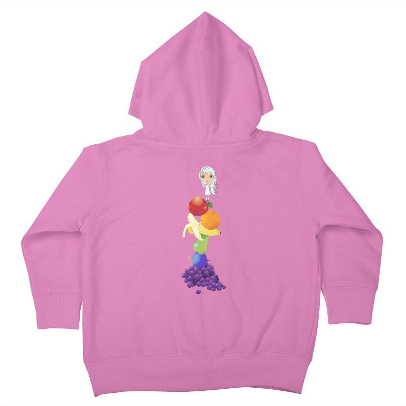 The Yummiest of Rainbows Kids Toddler Zip-Up Hoody by LittleMissTyne's Artist Shop
