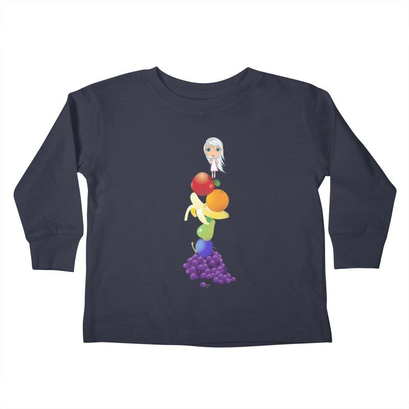 The Yummiest of Rainbows Kids Toddler Longsleeve T-Shirt by LittleMissTyne's Artist Shop