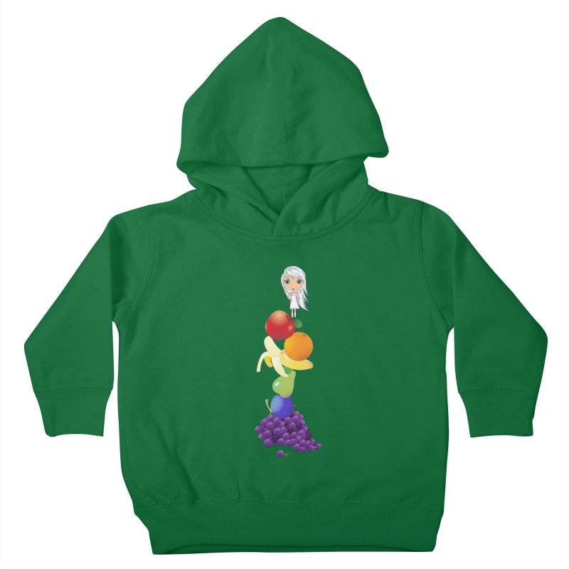The Yummiest of Rainbows Kids Toddler Pullover Hoody by Little Miss Tyne's Artist Shop