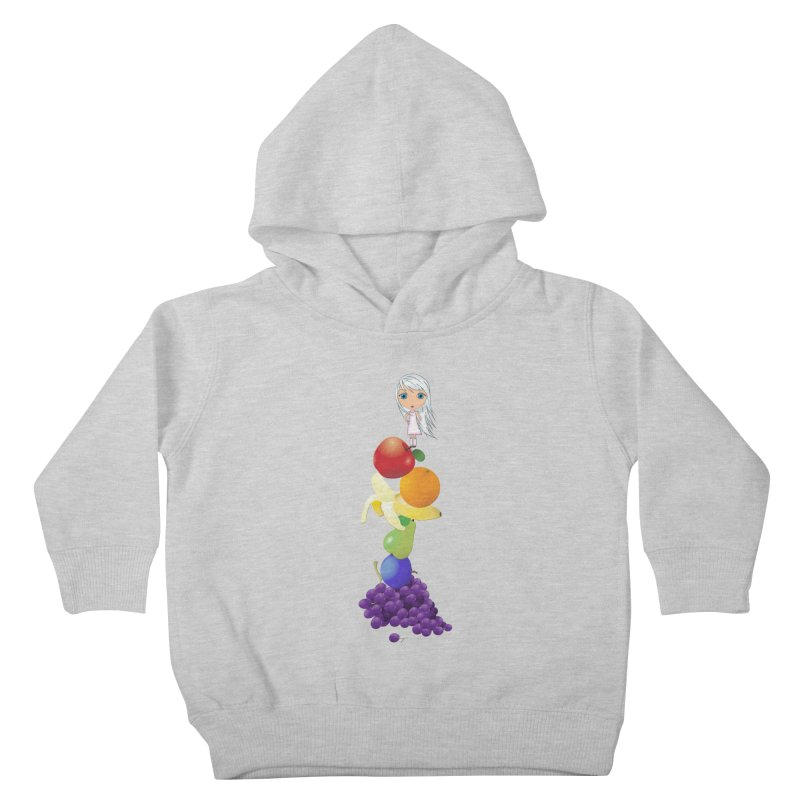 The Yummiest of Rainbows Kids Toddler Pullover Hoody by LittleMissTyne's Artist Shop