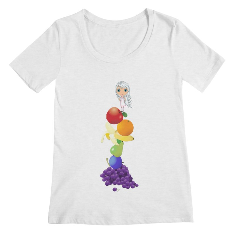 The Yummiest of Rainbows Women's Regular Scoop Neck by LittleMissTyne's Artist Shop