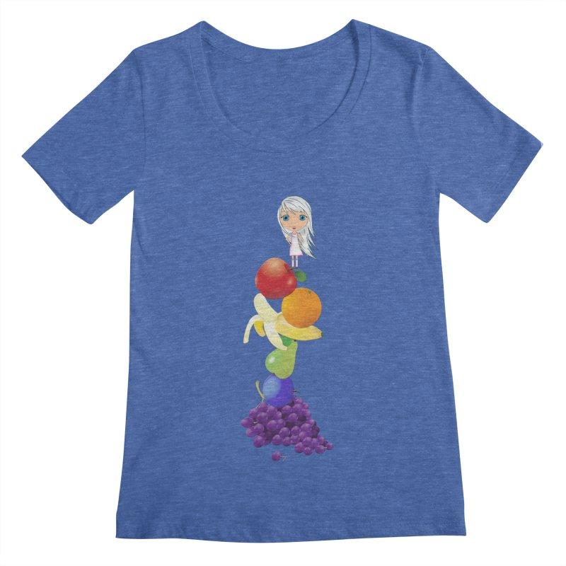 The Yummiest of Rainbows Women's Regular Scoop Neck by LittleMissTyne's Artist Shop