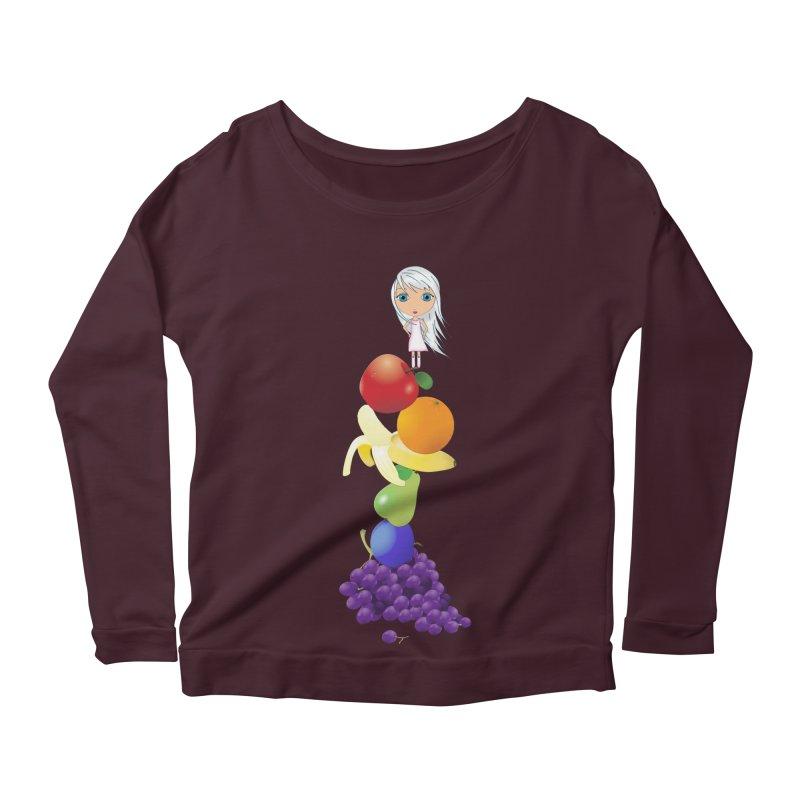 The Yummiest of Rainbows Women's Scoop Neck Longsleeve T-Shirt by LittleMissTyne's Artist Shop