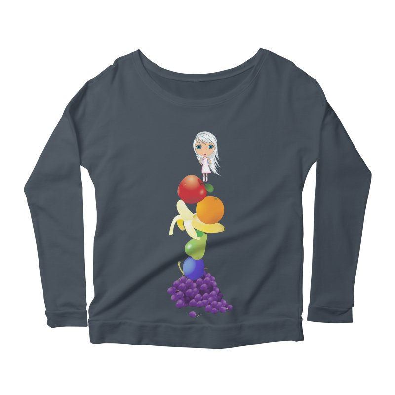 The Yummiest of Rainbows Women's Scoop Neck Longsleeve T-Shirt by LittleMissTyne's Artist Shop