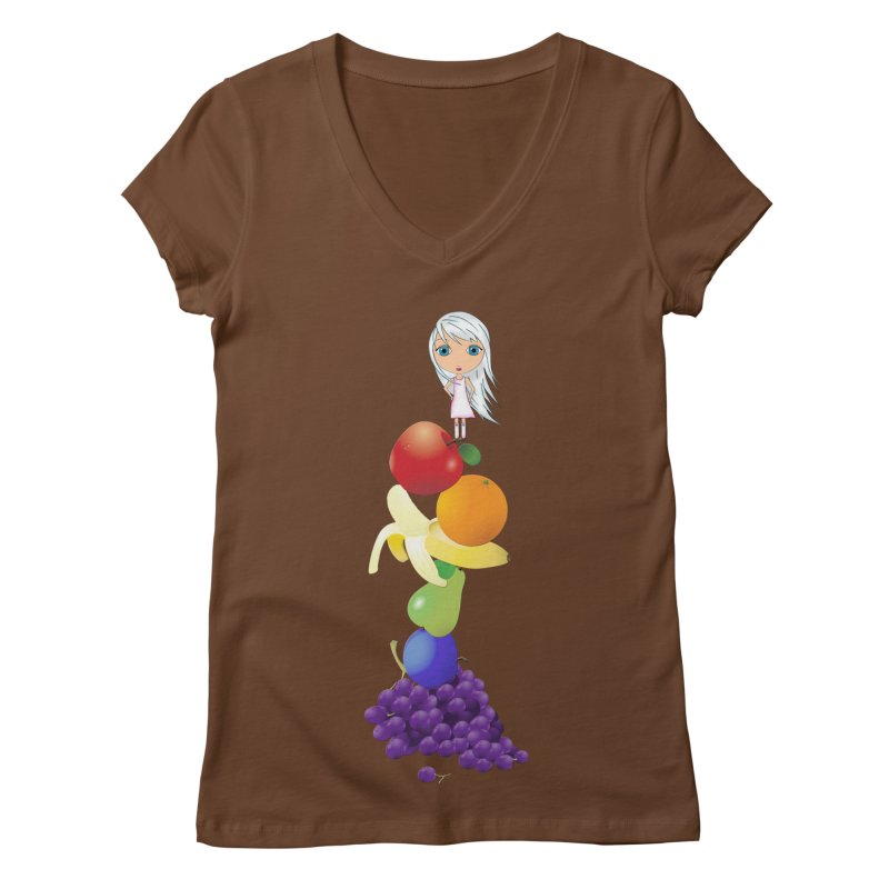 The Yummiest of Rainbows Women's V-Neck by LittleMissTyne's Artist Shop