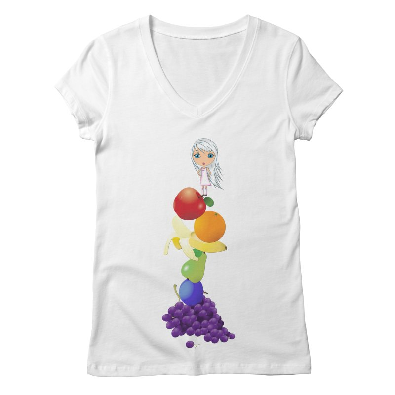 The Yummiest of Rainbows Women's V-Neck by LittleMissTyne's Artist Shop
