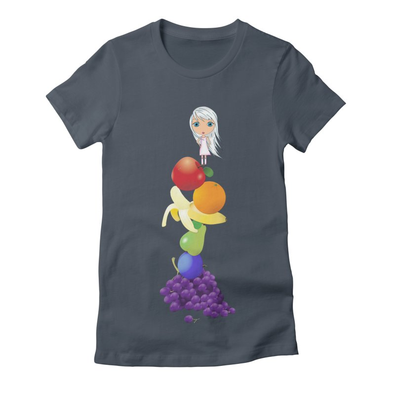 The Yummiest of Rainbows Women's T-Shirt by Little Miss Tyne's Artist Shop