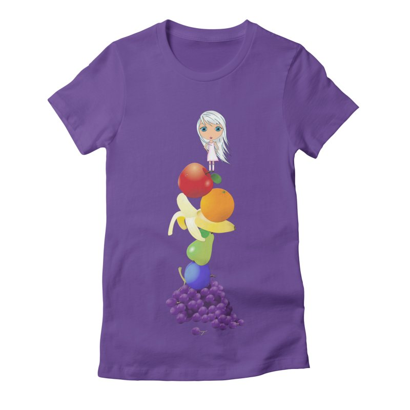 The Yummiest of Rainbows Women's Fitted T-Shirt by LittleMissTyne's Artist Shop
