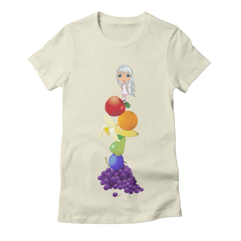 The Yummiest of Rainbows Women's Fitted T-Shirt by LittleMissTyne's Artist Shop