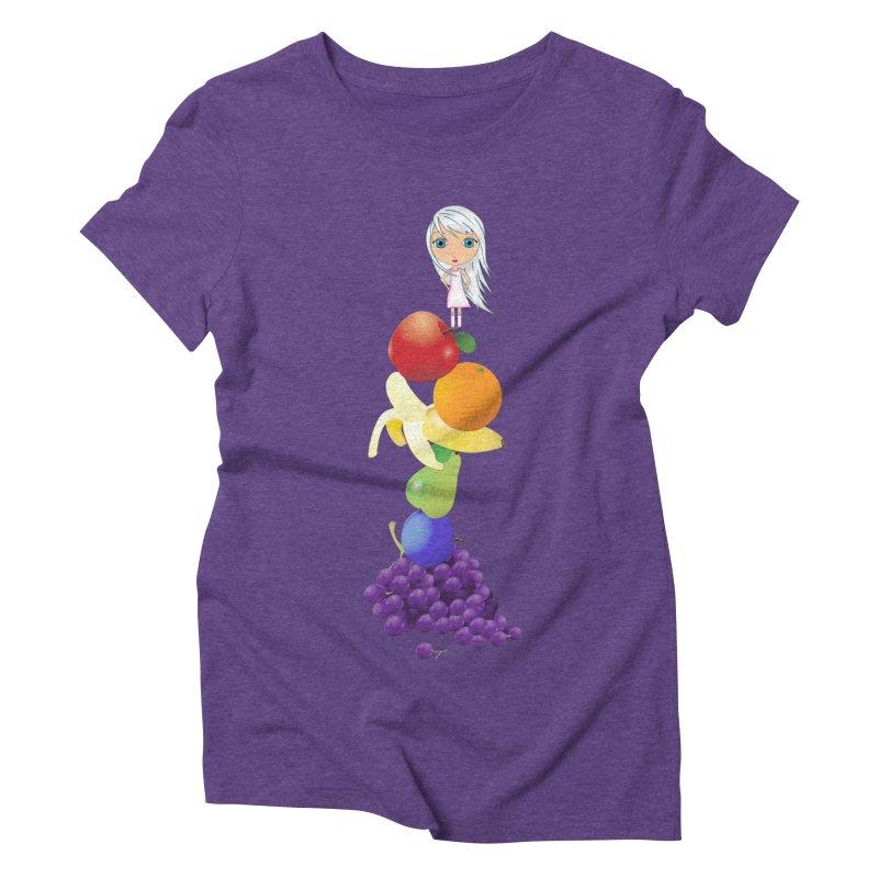 The Yummiest of Rainbows Women's Triblend T-Shirt by LittleMissTyne's Artist Shop