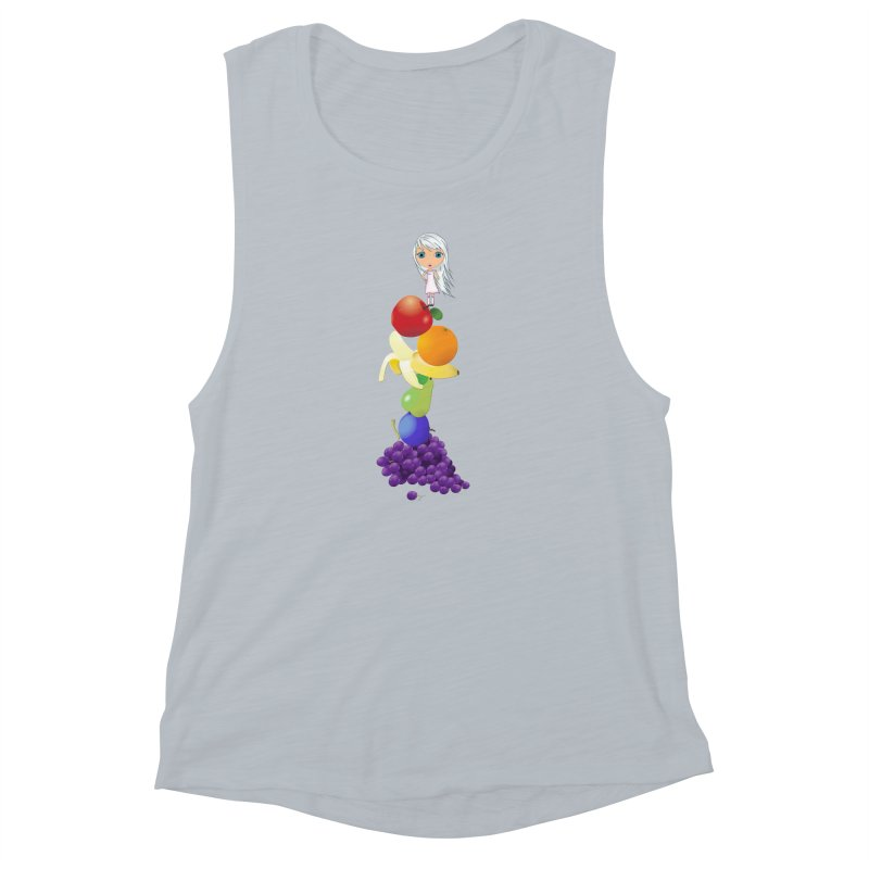 The Yummiest of Rainbows Women's Muscle Tank by LittleMissTyne's Artist Shop