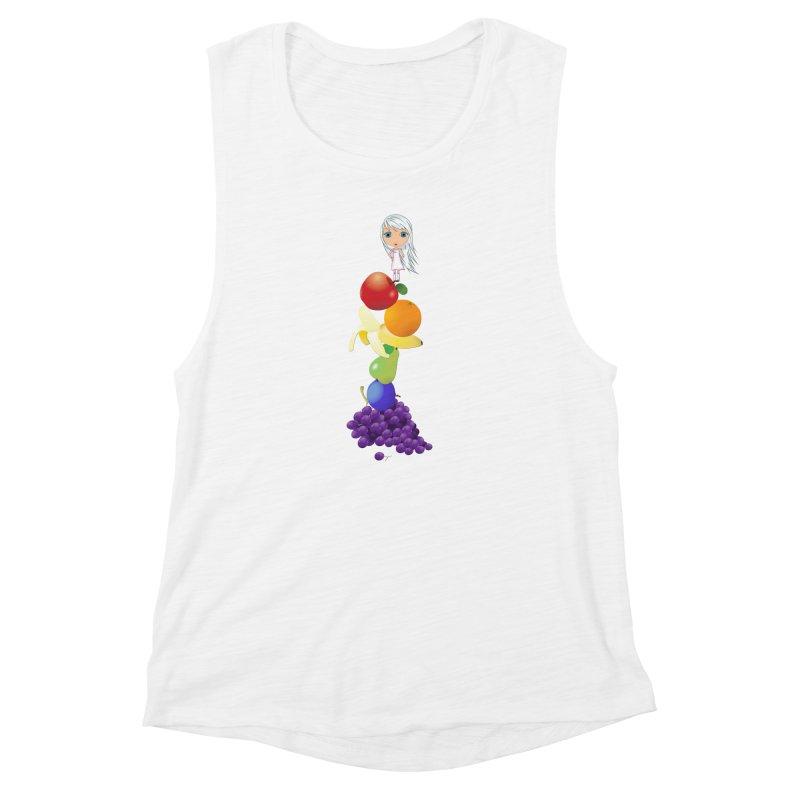 The Yummiest of Rainbows Women's Muscle Tank by LittleMissTyne's Artist Shop