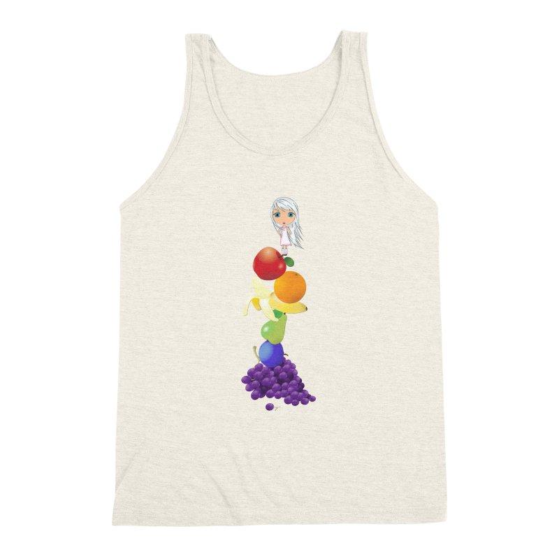 The Yummiest of Rainbows Men's Triblend Tank by LittleMissTyne's Artist Shop