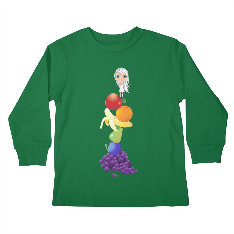 The Yummiest of Rainbows Kids Longsleeve T-Shirt by LittleMissTyne's Artist Shop