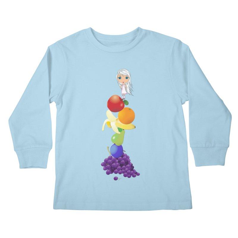 The Yummiest of Rainbows Kids Longsleeve T-Shirt by LittleMissTyne's Artist Shop