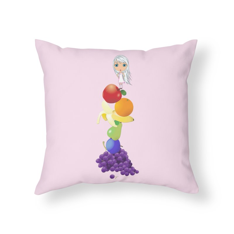 The Yummiest of Rainbows Home Throw Pillow by LittleMissTyne's Artist Shop