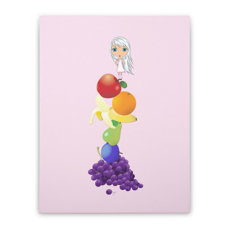 The Yummiest of Rainbows Home Stretched Canvas by LittleMissTyne's Artist Shop