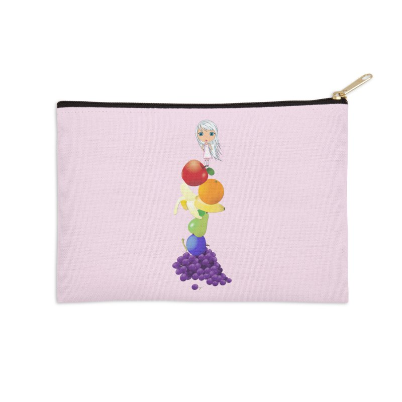 The Yummiest of Rainbows Accessories Zip Pouch by Little Miss Tyne's Artist Shop