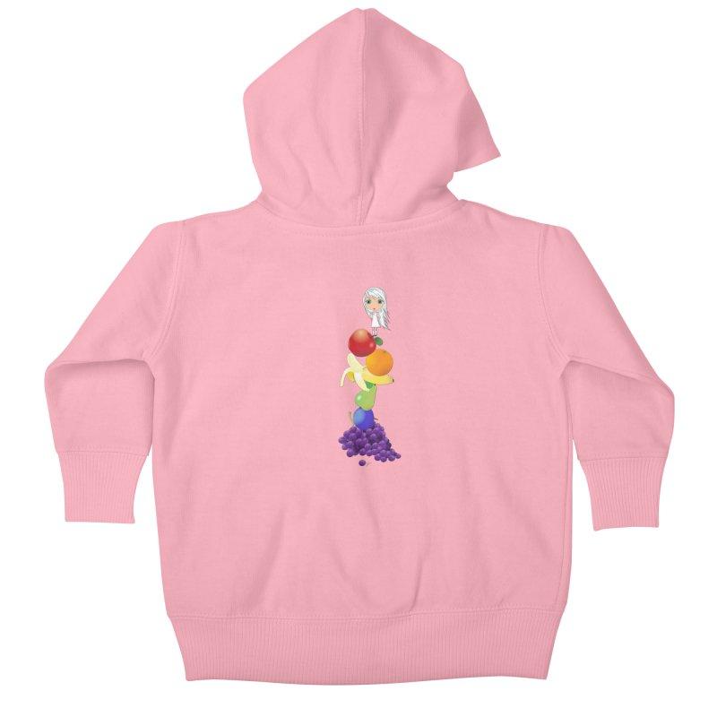 The Yummiest of Rainbows Kids Baby Zip-Up Hoody by Little Miss Tyne's Artist Shop
