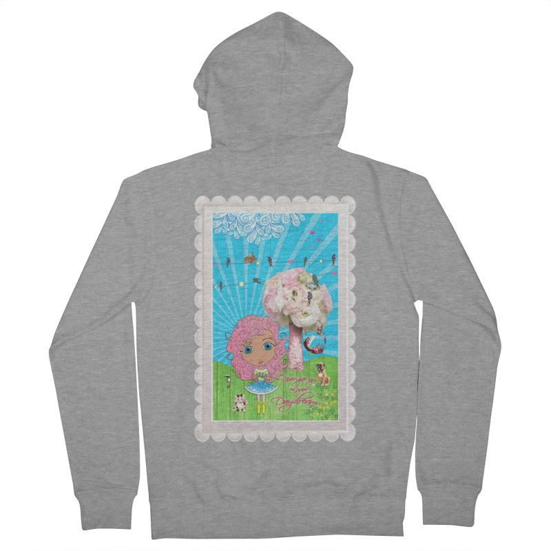 Daydreams Really Do Come True - Light Haired Version Women's French Terry Zip-Up Hoody by LittleMissTyne's Artist Shop
