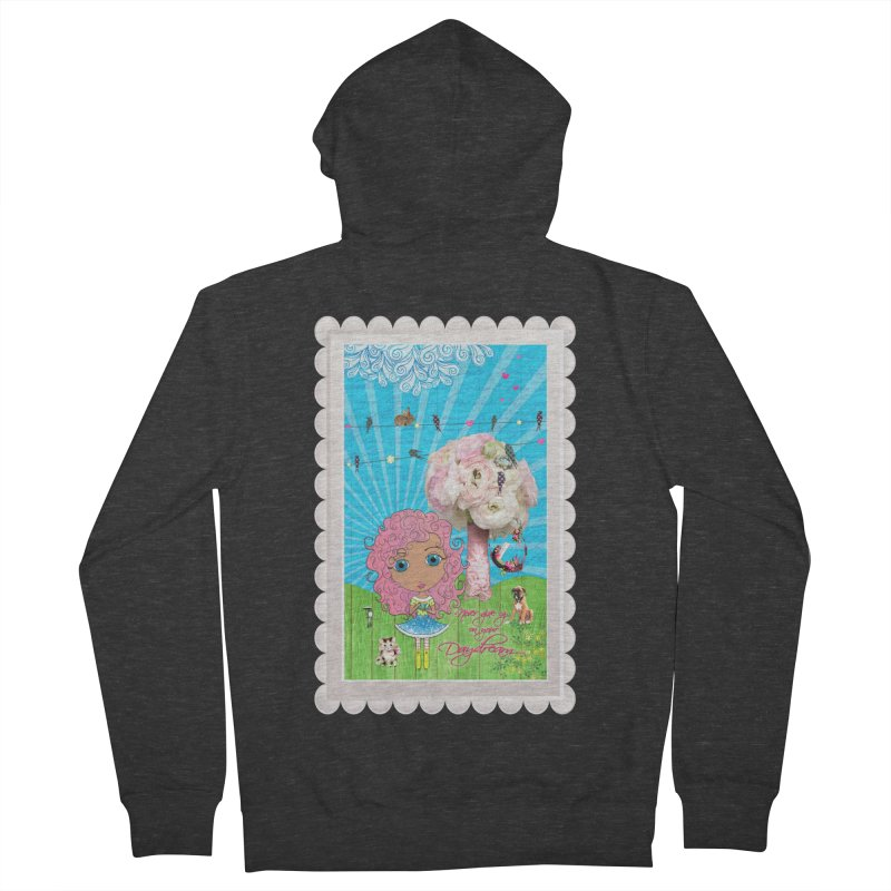 Daydreams Really Do Come True - Light Haired Version Men's French Terry Zip-Up Hoody by LittleMissTyne's Artist Shop