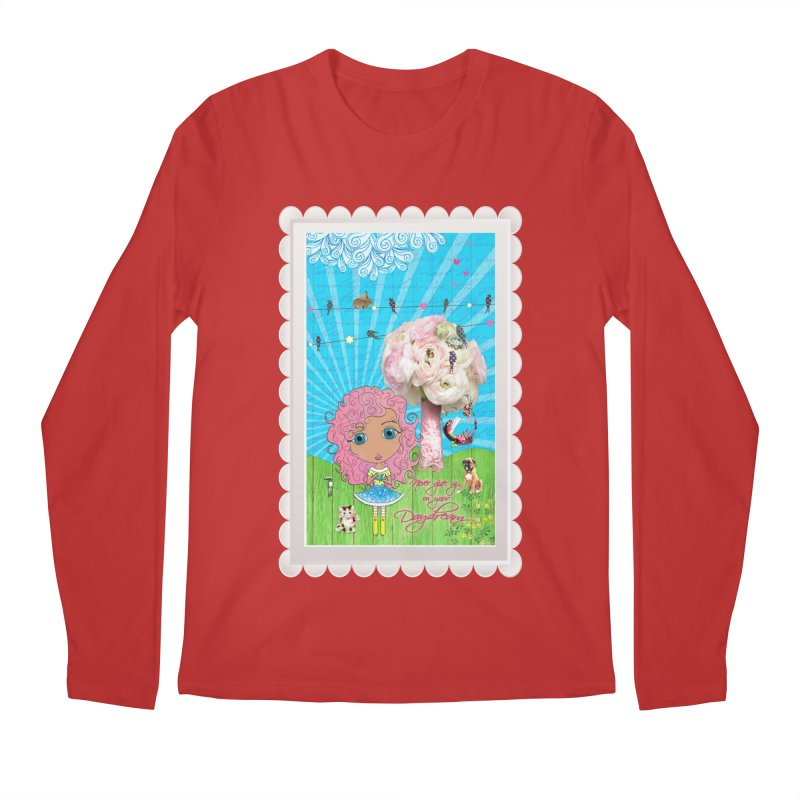 Daydreams Really Do Come True - Light Haired Version Men's Regular Longsleeve T-Shirt by LittleMissTyne's Artist Shop